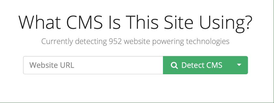 trouver le CMS d'un site web